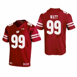 J.j. Watt Wisconsin Badgers Red Replica Football Maillot
