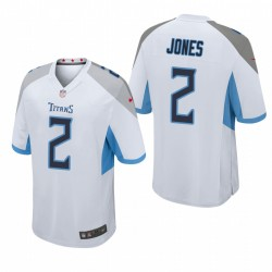 Tennessee Titans Julio Jones Blanc jeu Maillot