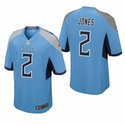 Tennessee Titans Julio Jones jeu bleu clair Maillot