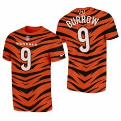 Cincinnati Bengals Joe Burrow City Edition 2021 Nom Nom T-shirt - Orange