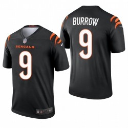 Bengals 9 Joe Burrow 2021 Black Legend Maillot