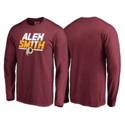 Hommes Alex Smith Washington Redskins Burgundy Hometown Collection onze T-shirt à manches longues