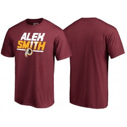 Hommes Alex Smith Washington Redskins Burgundy Hometown Collection onze T-shirt