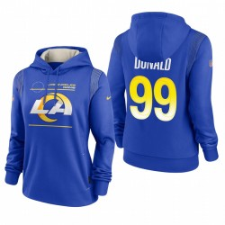 Femme's Los Angeles Rams Aaron Donald Royal Sideline Performance Pull Sweat à capuche