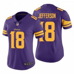 Justin Justin Jefferson 18 Minnesota Vikings Purple Maillot NFL