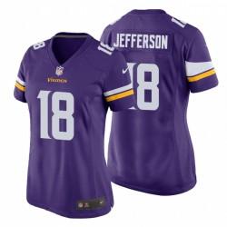 Justin Jefferson 18 Minnesota Vikings Game Purple Maillot NFL