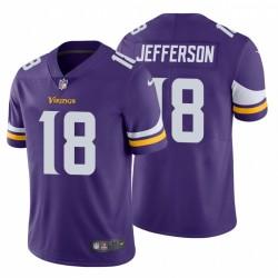 Justin Jefferson 18 Minnesota Vikings Vapeur Vapeur Limited Maillot NFL