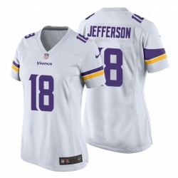 Justin Jefferson 18 Minnesota Vikings Blanc jeu Maillot NFL