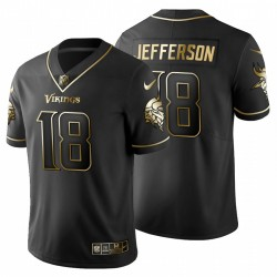 Justin Jefferson 18 Minnesota Vikings Noir Vapor Limited Maillot NFL Profre
