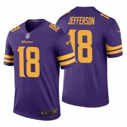Justin Justin Jefferson 18 Minnesota Vikings Violet Maillot NFL Draft