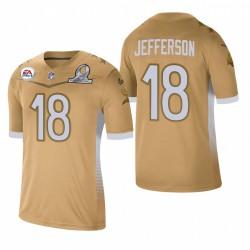 Vikings Justin Jefferson 2021 NFC Pro Bowl Jeu Maillot - Or