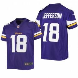 Jeunesse Minnesota Vikings Justin Jefferson jeu Maillot - Purple