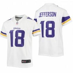 Jeunesse Minnesota Vikings Justin Jefferson jeu Maillot - Blanc