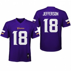 Jeunesse Minnesota Vikings Justin Jefferson Joueur de jeu Maillot - Purple