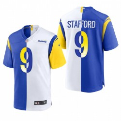 Matthew Stafford Los Angeles Rams Split Game Maillot - Royal Blanc