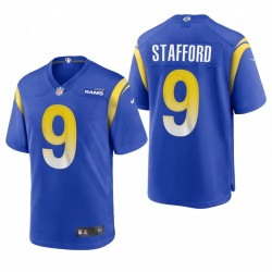 Los Angeles Rams Matthew Stafford Game Royal Maillot