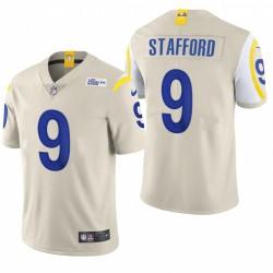 Rams 9 Matthew Stafford Bone Vapor Limited Maillot