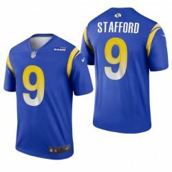 Rams 9 Matthew Stafford Royal Legend Maillot