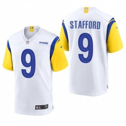 Los Angeles Rams Matthew Stafford 2021 Blanc Jeton moderne jeu Maillot
