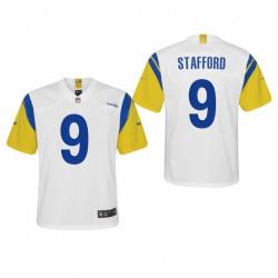Jeunesse Los Angeles Rams Matthew Stafford 2021 Jeu de retour moderne Maillot - Blanc