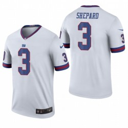 Giants 3 Sterling Shepard Blanc Color Rush légend Maillot
