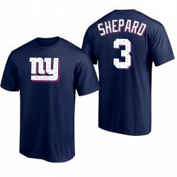 Giants Sterling Sterling Shepard 2021 T-shirt logo de la journée de l'indépendance - marine