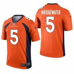 BRONCOS 5 Teddy Bridgewater Orange légende Maillot