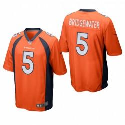 Denver Broncos Teddy Bridge Bridge Ewater Jeu Orange Maillot