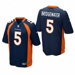 Denver Broncos Teddy Bridgewater Water Navy Jeu Maillot