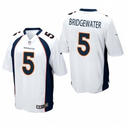 Denver Broncos Teddy Bridgewater Blanc jeu Maillot