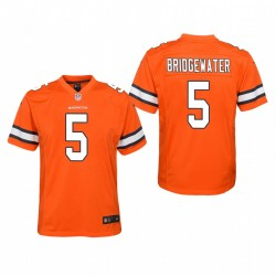 Denver Broncos Youth Teddy Bridgewater couleur Rush jeu Maillot - Orange