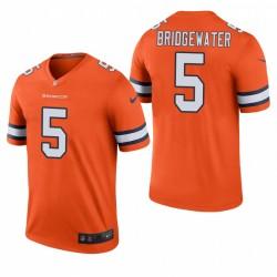 BRONCOS 5 Teddy Bridgewater Orange Couleur Couleur Légende Maillot