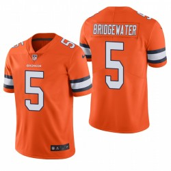 Men's Denver Broncos Teddy Bridgewater Orange Color Rush Rush Limited Maillot