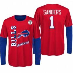 Bills Buffalo Jeunes Bills Emmanuel Sanders Red Royal Team Logo Combo Set T-shirt