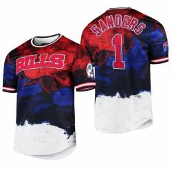 Bills Emmanuel Sanders 2021 Day Indépendance Day Americana Dip-Dye T-shirt - Navy Rouge