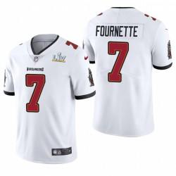Tampa Bay Buccaneers Leonard Fournette Super Bowl LV Vapeur Limited Maillot - Blanc