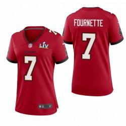 Femmes Buccaneers Leonard Fournette Super Bowl lv jeu Maillot - rouge