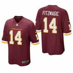 Washington Football Team 14 Ryan Fitzpatrick Bourgogne surnoms Jeu Maillot
