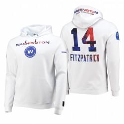 Washington Football Team Ryan Fitzpatrick 2021 Day Indépendance Journée Blanc Americana Pull Sweat à capuche