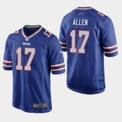 Buffalo Bills 17 hommes Josh Allen jeu Jersey - royal