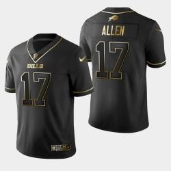 Buffalo Bills Hommes 17 Josh Allen Golden Edition Jersey vapeur Intouchable limitée - Noir