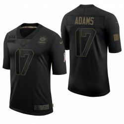 Men's Green Bay Packers Davante Adams Noir Salut à Service Limited Maillot