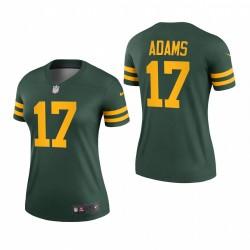 Femmes Davante Adams 17 Green Bay Packers Vert Légende Légende Maillot