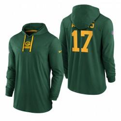 Green Bay Packers Davante Adams Green Sideline Performance T-shirt à manches longues Tri-Blend