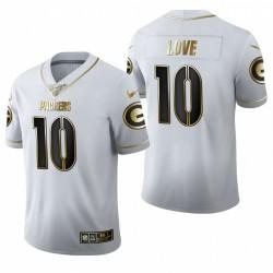Emballeurs Jordan Love Blanc NFL Projet d'édition Golden Maillot