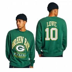 Packers Jordan Love Sweat-shirt d'équipe Vintage Team - Vert
