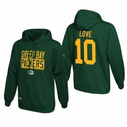 Jordan Love Green Bay Packers Ecole Green of Hard Knocks Pull Sweat à capuche