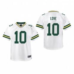 Jeunesse Green Bay Packers Jordan Love jeu Maillot - Blanc