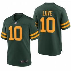 Green Bay Packers Jordan Love Green Retour Alternate Jeu Maillot