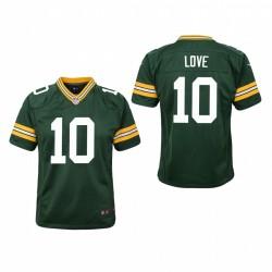 Jeunesse Green Bay Packers Jordan Love jeu Maillot - Vert